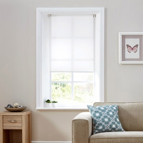 Sheer White Bottom Bar Auto Roller Blind