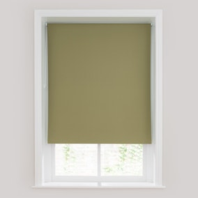 Olive Green Blackout Roller Blind