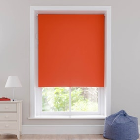 Orange Blackout Cordless Roller Blind