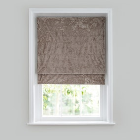 Crushed Velour Champagne Roman Blind