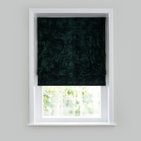 Crushed Velour Emerald Roman Blind