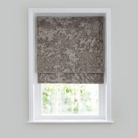 Crushed Velour Mink Roman Blind