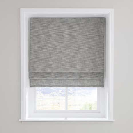 Elements Boucle Grey Roman Blind Dunelm