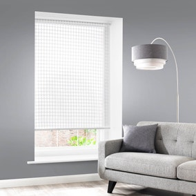 Elements Dot Sheer White Roller Blind