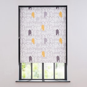Elements Houses Blackout Roller Blind