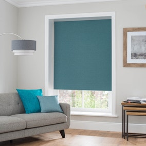 Luna Teal Blackout Roller Blind