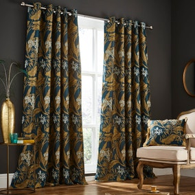 Leaf Eyelet Curtains