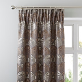 Alanna Mink Pencil Pleat Curtains