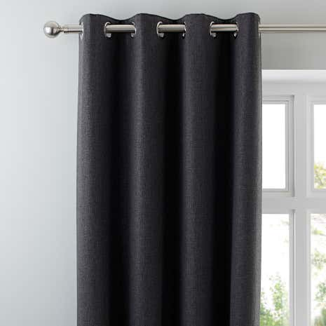 Harris Charcoal Thermal Eyelet Curtains