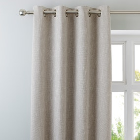 Boucle Natural Eyelet Curtains