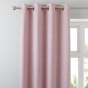 Boucle Pink Eyelet Curtains