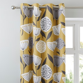 Elements Emmott Ochre Eyelet Curtains