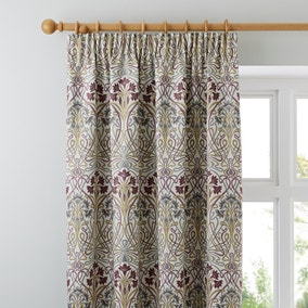 Lucetta Mauve Pencil Pleat Curtains