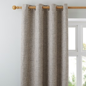 Thornton Grey Eyelet Curtains