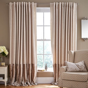 Paloma Natural Tab Top Curtains
