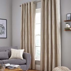 Stockholm Grey Eyelet Curtains