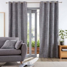 Hovden Monochrome Eyelet Curtains