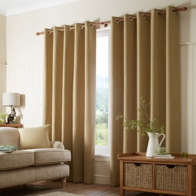 Paxton Ochre Eyelet Curtains