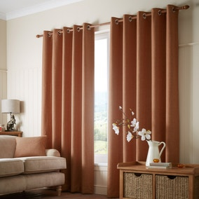 Paxton Rust Eyelet Curtains