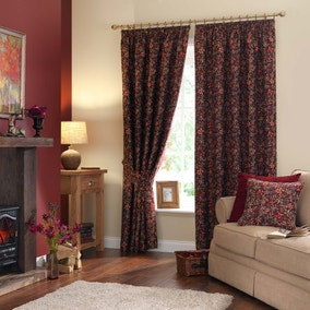 Berry Red Pencil Pleat Curtains