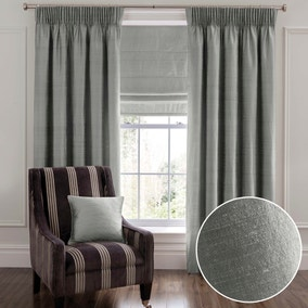 Dorma Beresford Grey Pencil Pleat Curtains