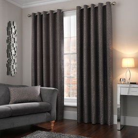 5A Fifth Avenue Madison Charcoal Eyelet Curtains