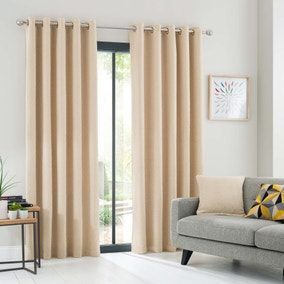 Elements Ochre Oslo Eyelet Curtains