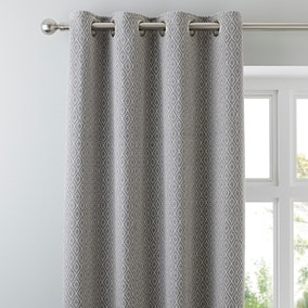 Elements Grey Oslo Eyelet Curtains
