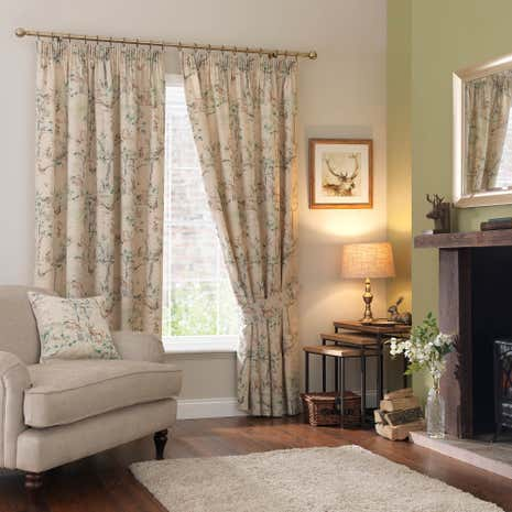 Woodland Pencil Pleat Curtains