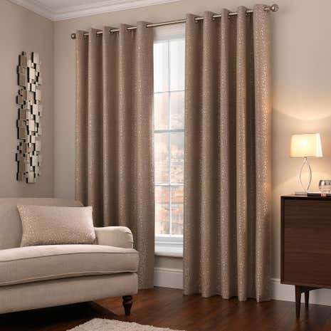 5A Fifth Avenue Madison Champagne Eyelet Curtains