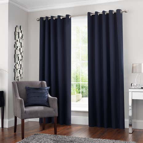 5A Fifth Avenue Venice Navy Blackout Eyelet Curtains
