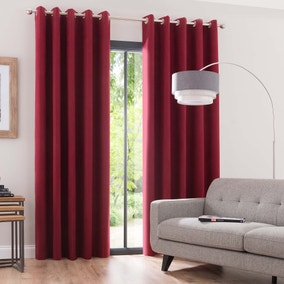 Luna Berry Blackout Eyelet Curtains