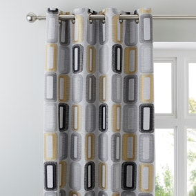 Elements Dahl Ochre Eyelet Curtains