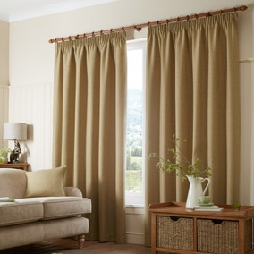 Paxton Ochre Pencil Pleat Curtains