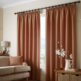 Paxton Rust Pencil Pleat Curtains