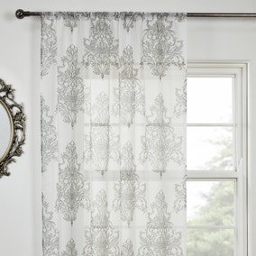 Versaille Charcoal Voile Panel