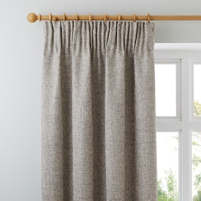 Thornton Grey Pencil Pleat Curtains