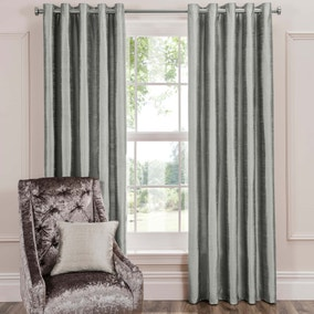 Dorma Beresford Grey Eyelet Curtains