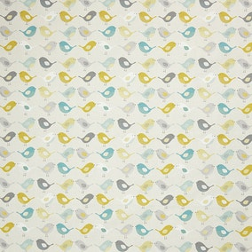 Ochre Scandi Birds Fabric