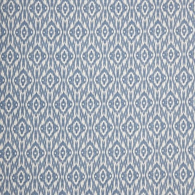 Ikat Blue PVC Fabric