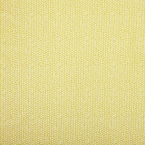 Ochre Spotty PVC Fabric