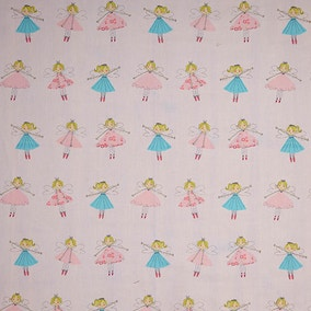 Fairies Pink PVC Fabric