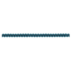 Teal Velvet Wave Braid Trim