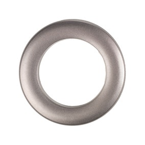 Pack of 12 Brush Steel Eyelet Rings