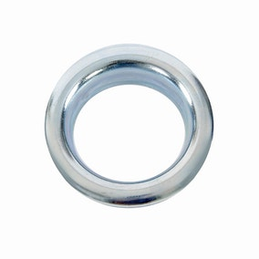 Pack of 12 36mm Chrome Eyelet Rings