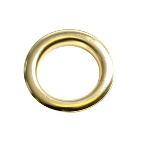 Pack of 12 Brushed Brass Eyelet Rings