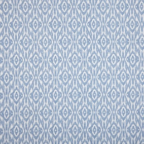 Ikat Blue Fabric