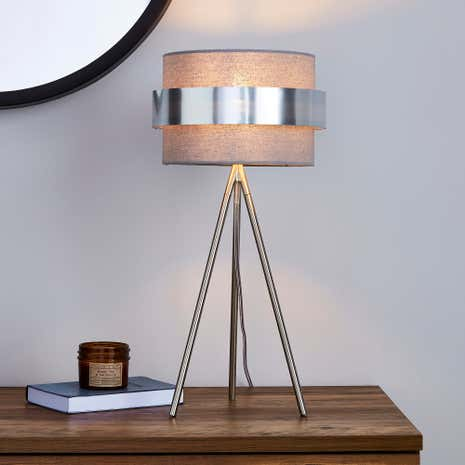 Joey Grey Table Lamp