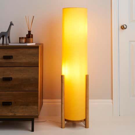 Elements Bjorn Ochre Floor Lamp