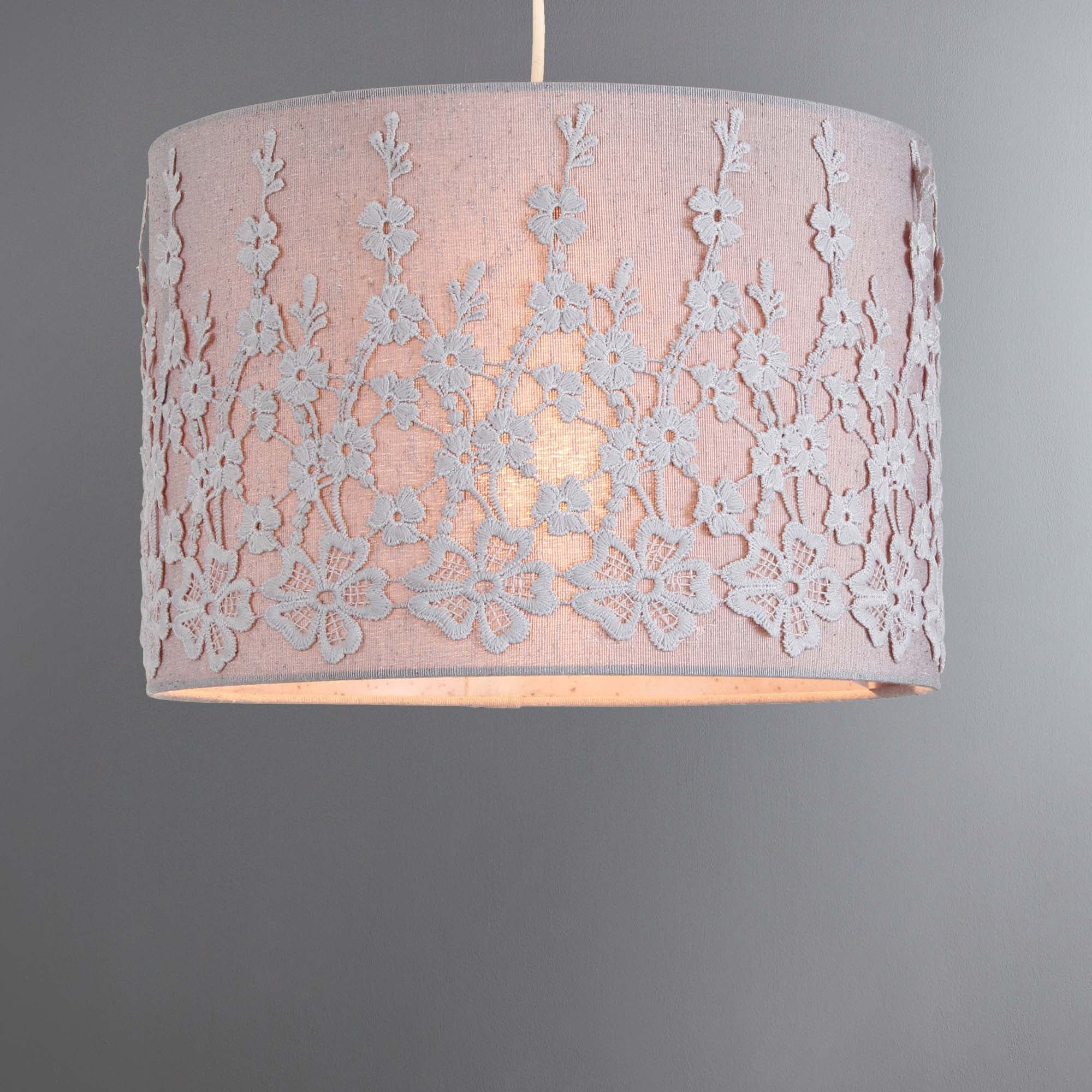 Dunelm Wall Lamp Shades : Esme Grey Light Shade Dunelm